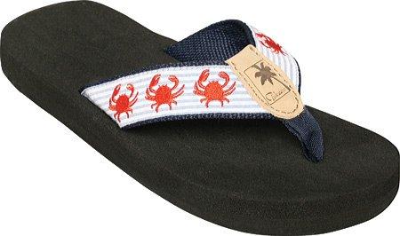 women's crab flip flops