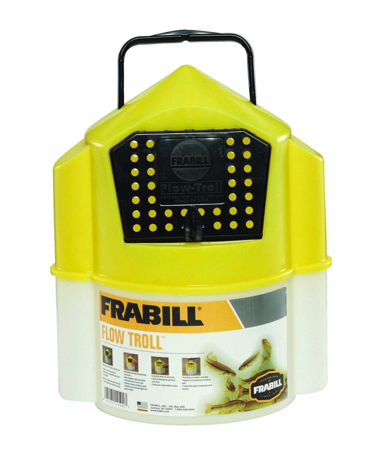 frabill flow troll bait container