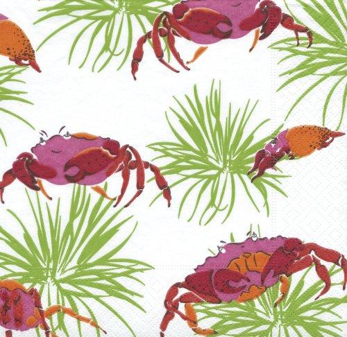 crabby cocktail napkins