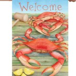 crabs welcome flag