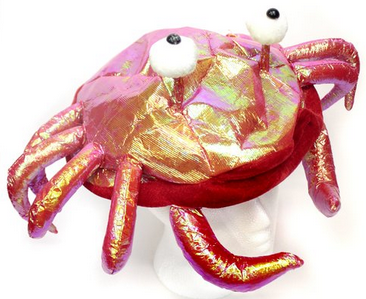 iridescent crab hat
