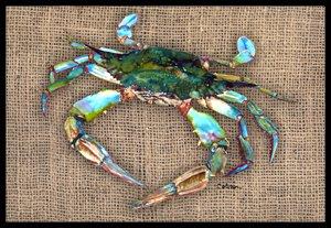 blue crab indoor outdoor doormat