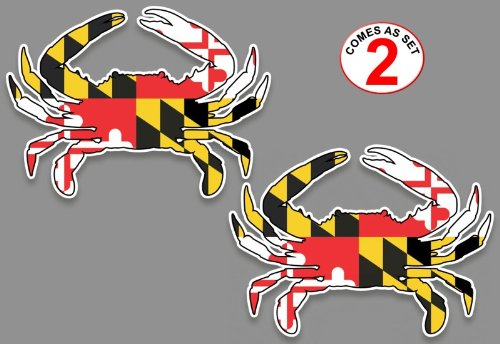 maryland crab decals for the car