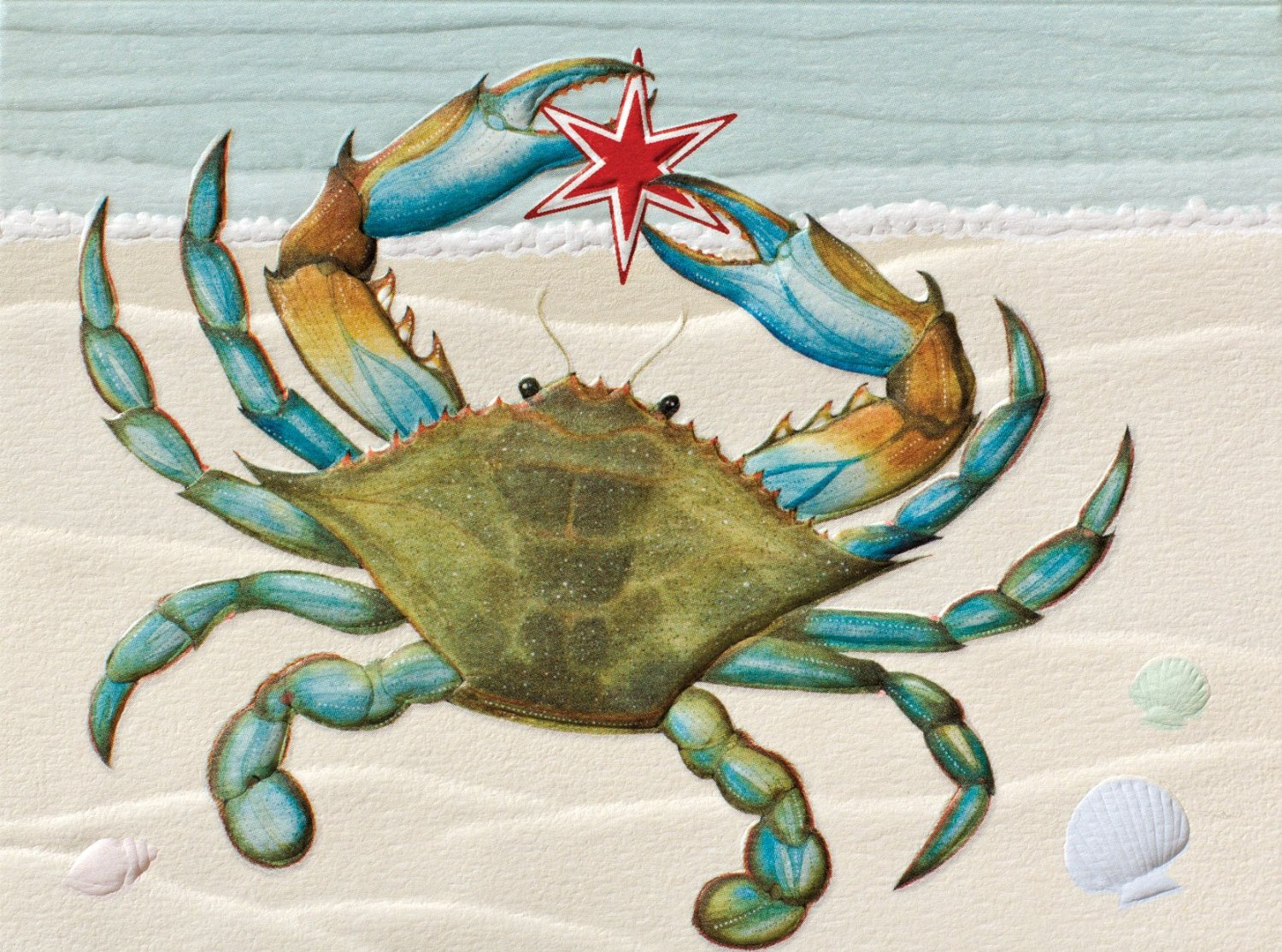 crab christmas cards