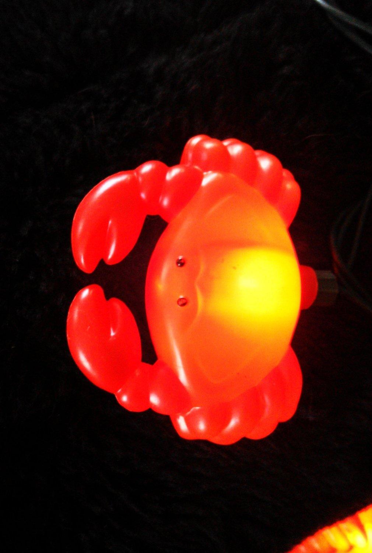 crab christmas string lights